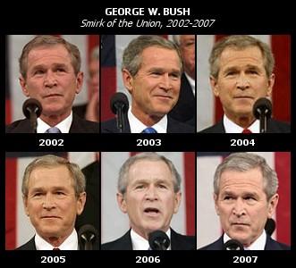 GeorgeWBush_StateOfTheUnion_Smirk_2002_2007