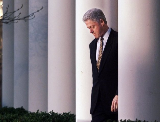 President Clinton in 1998. He and his aides have compared his effectiveness during his time in office versus President Obama's. Credit J. Scott Applewhite/Associated Press
